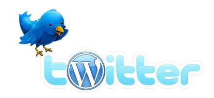 Logo Twitter e WordPress