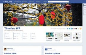 Timeline WP, tema para wordpress