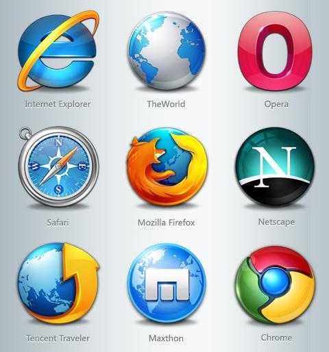 browsers icons - Como detectar um navegador de seus usuários no Wordpress?