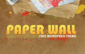 Free WordPress Theme: Paper Wall