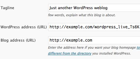 wordpress - wordpress address