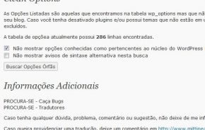 Tradução do plugin Clean Options para WordPress
