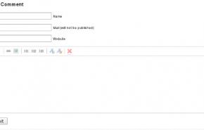 Formulário de comentários WYSIWYG