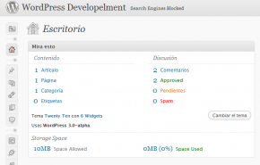 Novo esquema de cores do WordPress 3.0
