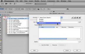 Dreamweaver CS5 inclui suporte para o WordPress