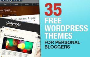 35 WordPress Temas gratis para o seu Blog Pessoal
