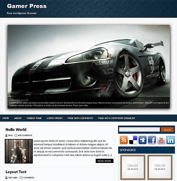 gamerpress Binuthemes - 8 Temas gratuitos para portais de jogos