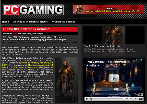 pcgaming - 8 Temas gratuitos para portais de jogos