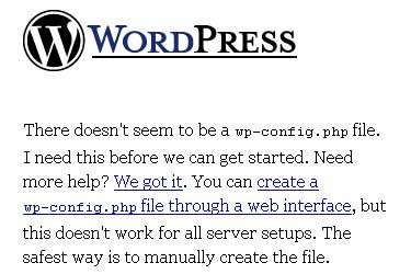 Página de erro do WordPress