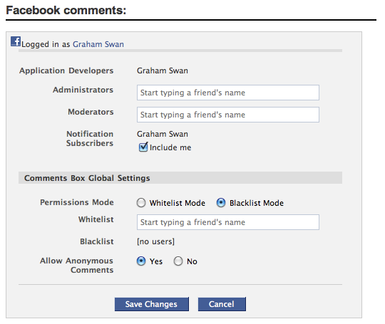 screen comments admin - Como adicionar os comentários do Facebook no seu blog WordPress