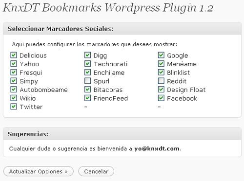 KnxDT - 15 plugins de Bookmarking Social