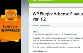 Plugin WordPress Adsense flutuante na lateral do seu blog