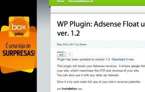 Plugin WordPress Adsense flutuante na lateral do seu blog