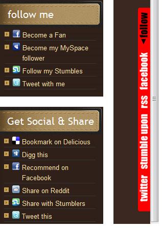 share and follow - 15 plugins de Bookmarking Social