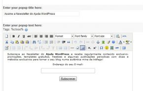 MaxBlogPress: Plugin WordPress para criar um Popup