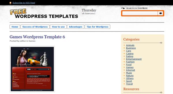 free wordpress templates - Free Templates WordPress – Temas para WordPress