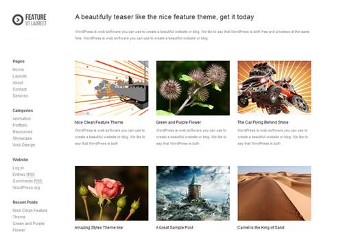 ferat - Temas gratuitos de WordPress: 25 melhores de 2011.