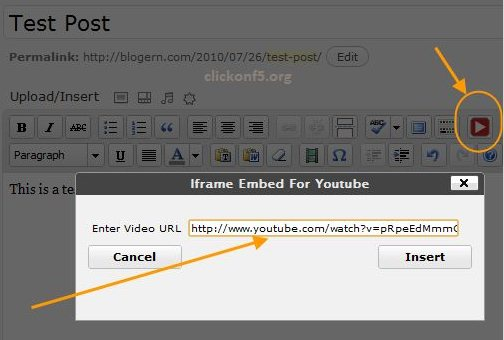 Como colocar videos do Youtube no WordPress com suporte HTML5
