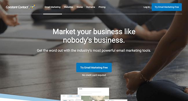 constantcontact Email Marketing Services - 10 Melhores serviços e ferramentas de software de e-mail marketing comparados