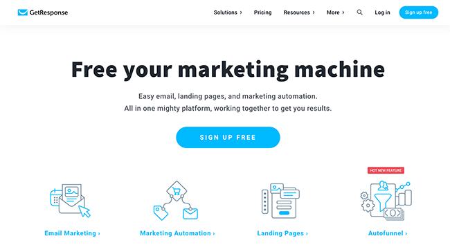 getresponse BW email marketing services - 10 Melhores serviços e ferramentas de software de e-mail marketing comparados