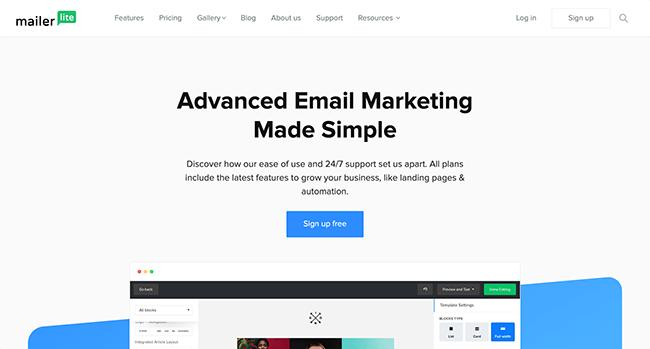 mailerlite Email Marketing Services - 10 Melhores serviços e ferramentas de software de e-mail marketing comparados